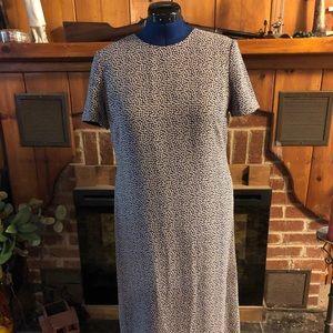 Talbots Petite Short Sleeve Mid Calf Dress